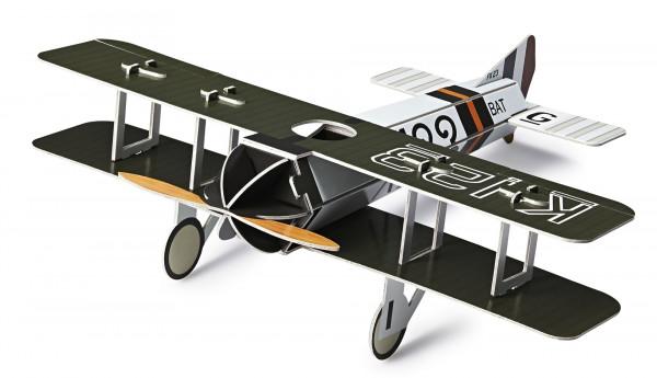 Bouwplaat vliegtuig karton