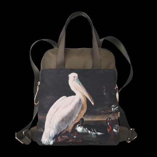 Rugzak pelikaan en vogels