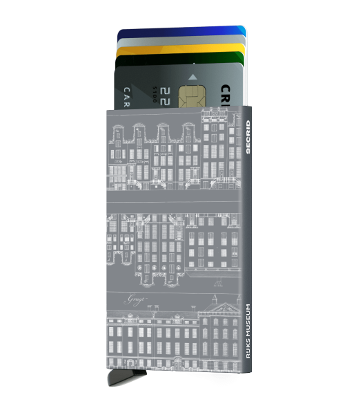 Cardprotector Grachtenpandjes titanium