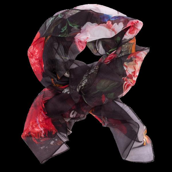 Zijden sjaal chiffon De Heem