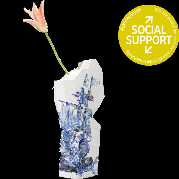 Paper Vase Cover Delftware