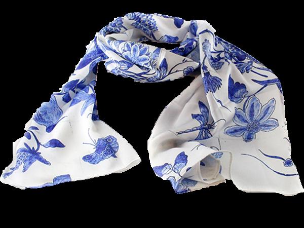 Sjaal Delft blauw