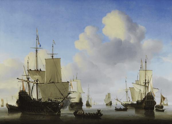 Poster I Hollandse Schepen op een Kalme Zee