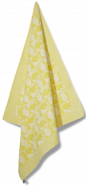Jaquard woven tea towel | The Mikmaid - yellow