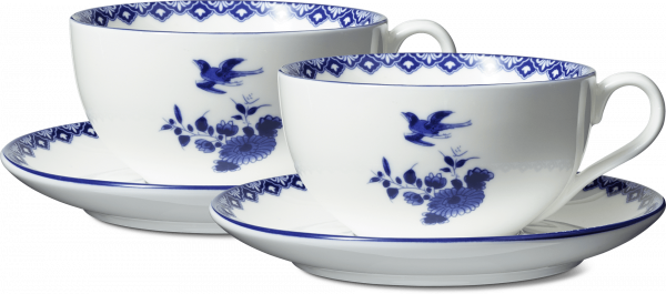 Delftware cappucino cups and saucers