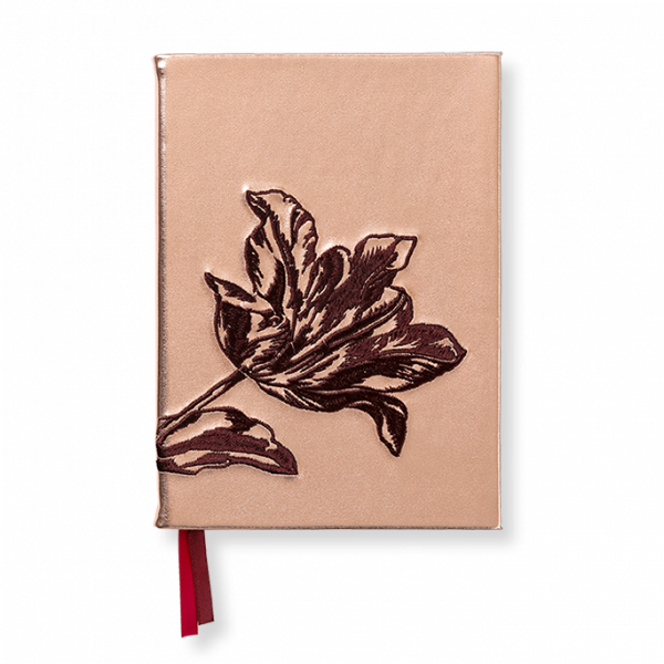 Notebook embroidered tulip