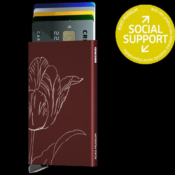 Cardprotector Tulp bordeaux