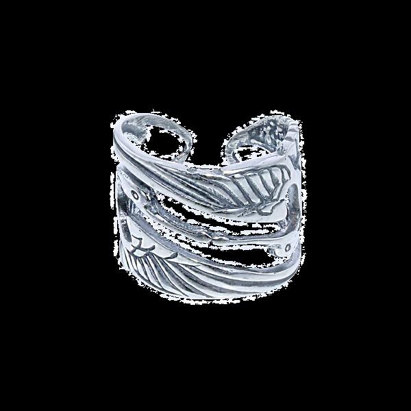 Ring Kraanvogel Zilver