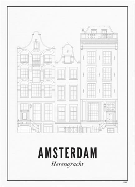 Print Herengracht A4