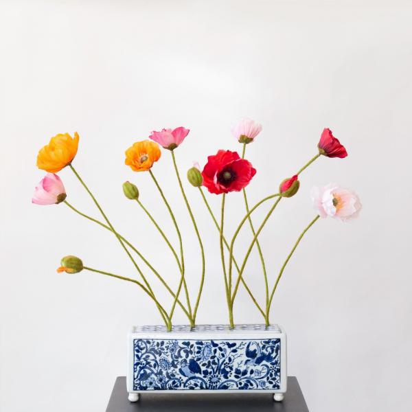Kunstbloemen klaprozen