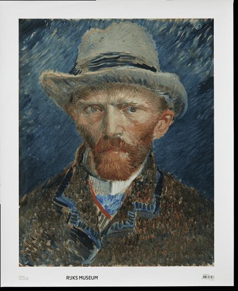 Canvas 'Zelfportret van Gogh'