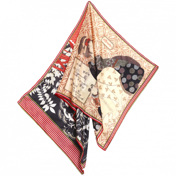 Sjaal Japanse prenten