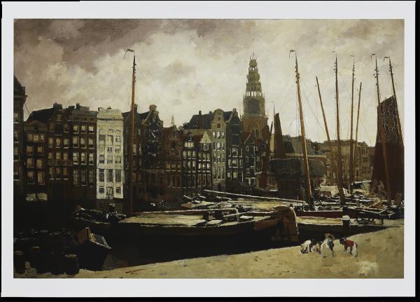 Poster 'Damrak, Amsterdam'