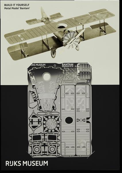 Bouwplaat vliegtuig metaal