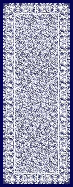 Zijden sjaal Delfts blauw