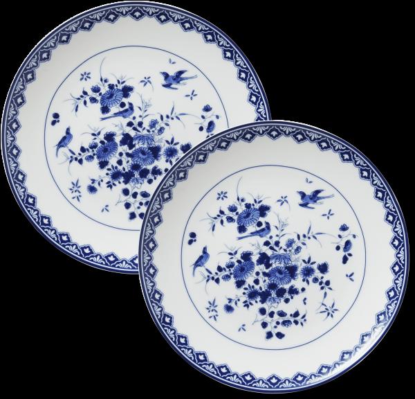 Delfts blauwe ontbijtborden