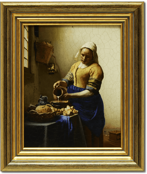 Oleografie 'Het melkmeisje'