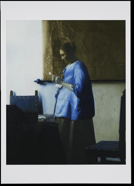 XL poster   Brieflezende vrouw l 50x70cm