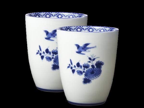 Set of 2 porcelain mugs | Delfs Blue | 10cm