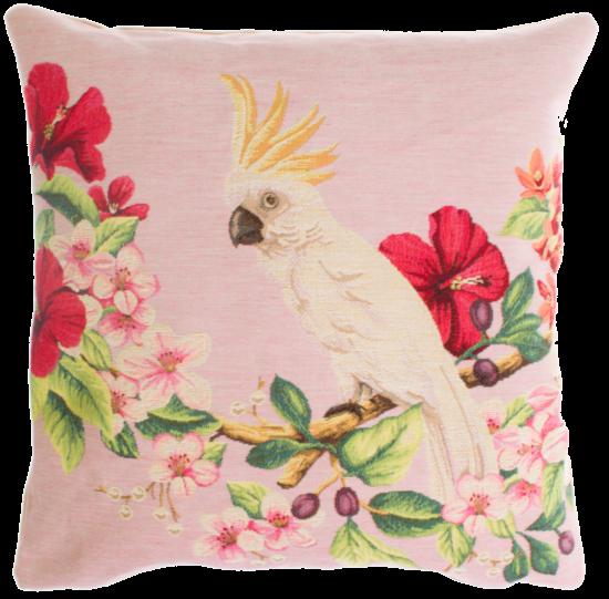 Kussenhoes Papegaai roze