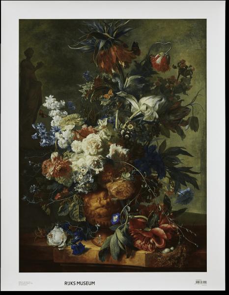 Canvas I Stilleven met bloemen van Huysum
