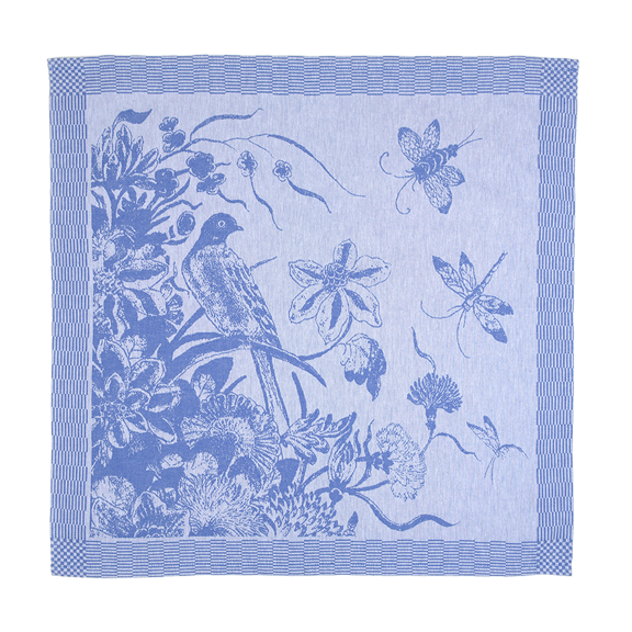 Tea Towel Delftware Bird