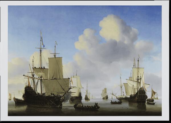 Poster 'Hollandse Schepen op een Kalme Zee'