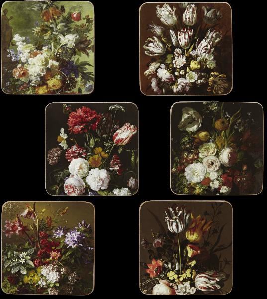 Coasters 'Flower Still Lifes'