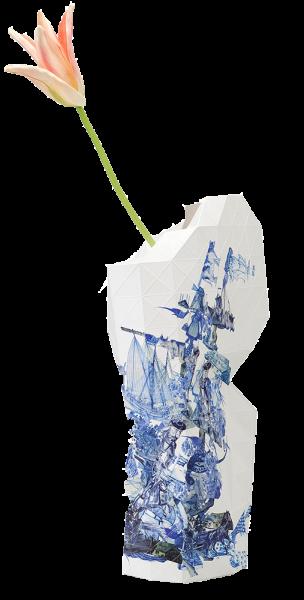 Vouwvaas Delfts blauw groot
