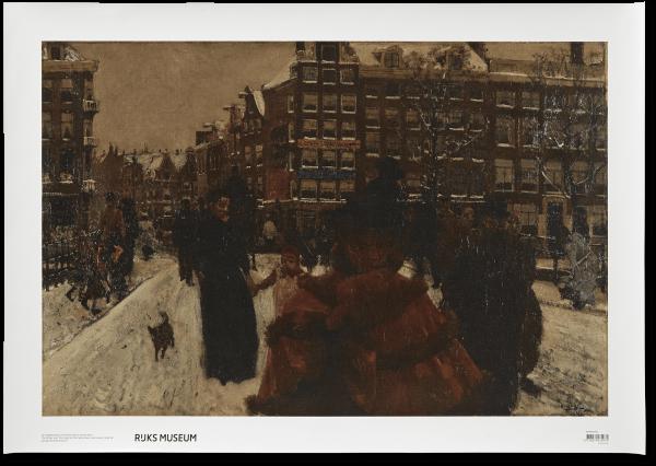 Canvas I De Singelbrug te Amsterdam - 49 x 70 cm