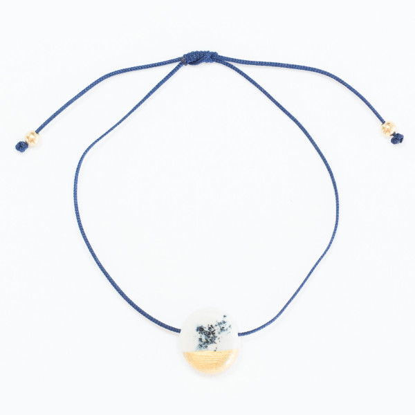 Armband I Dutch Blue - afgewerkt met bladgoud